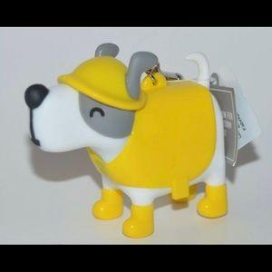 Noise-Making Raincoat Dog